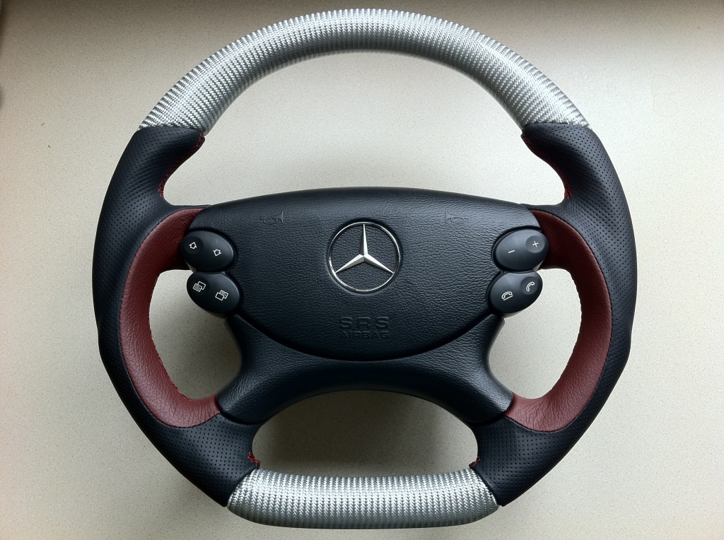CLS silver carbon sport steering wheel
