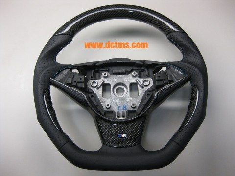 BMW E60 E63 sport flat bottom steering wheel_02
