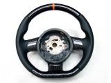 Gallardo 2008 orange carbon steering wheel (1)