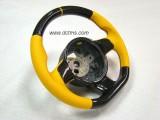 Gallardo carbon yellow steering wheel_002